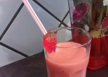 Smoothie fraises-bananes-kiwis